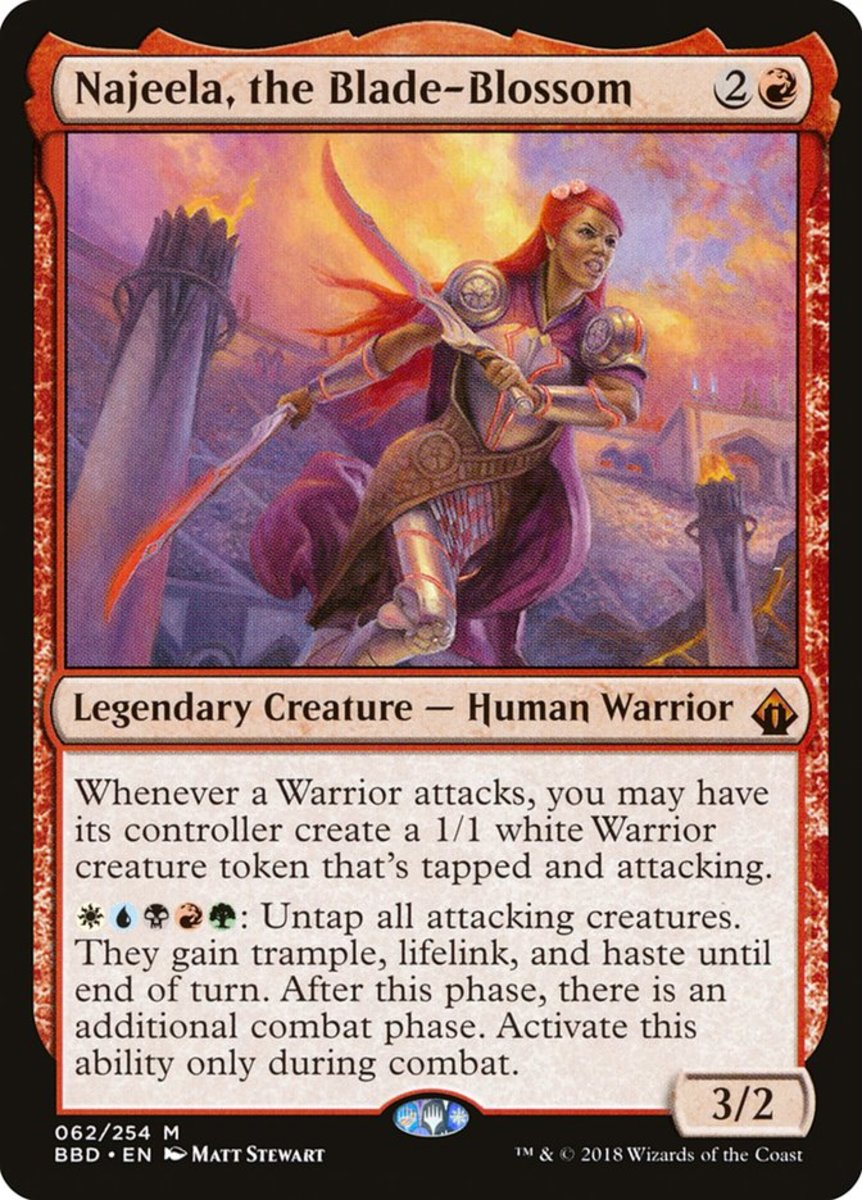 Najeela, the Blade-Blossom mtg