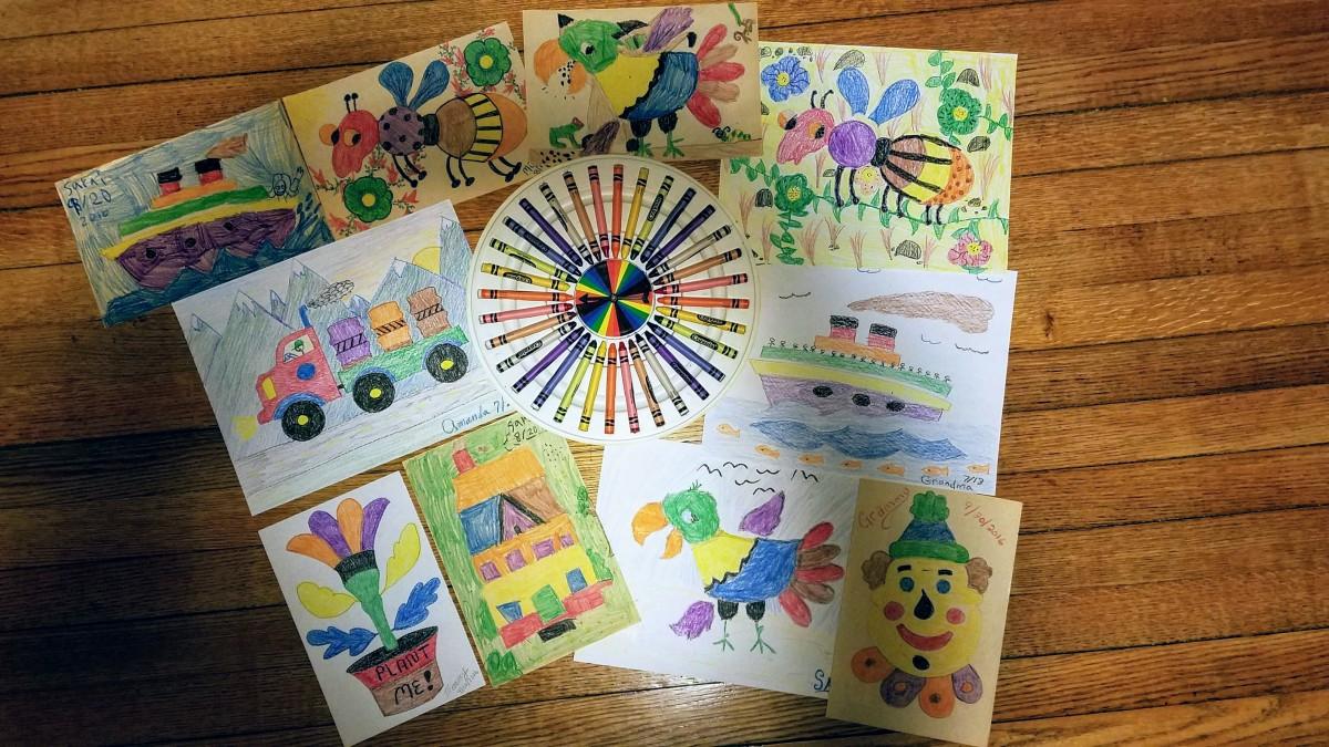 Crayola Crayon Color Wheel Drawing Game Creations