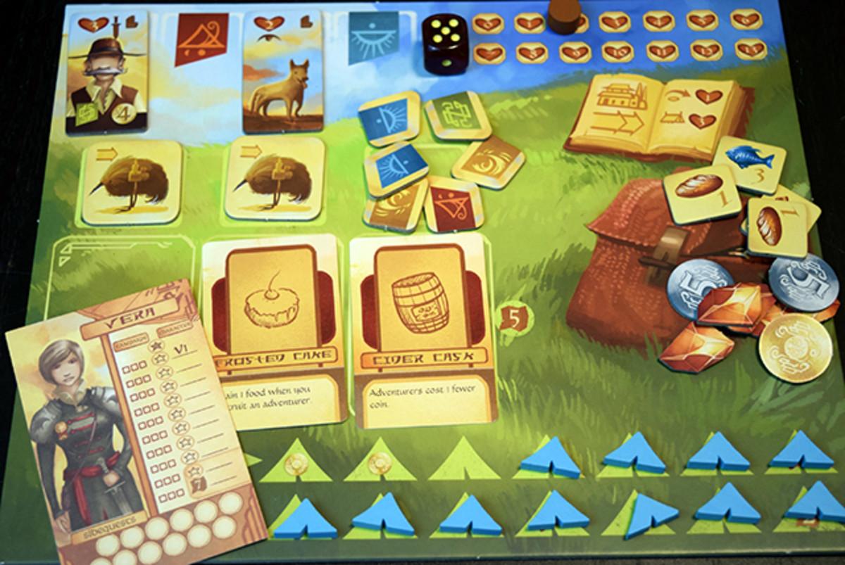 Near and Far player board