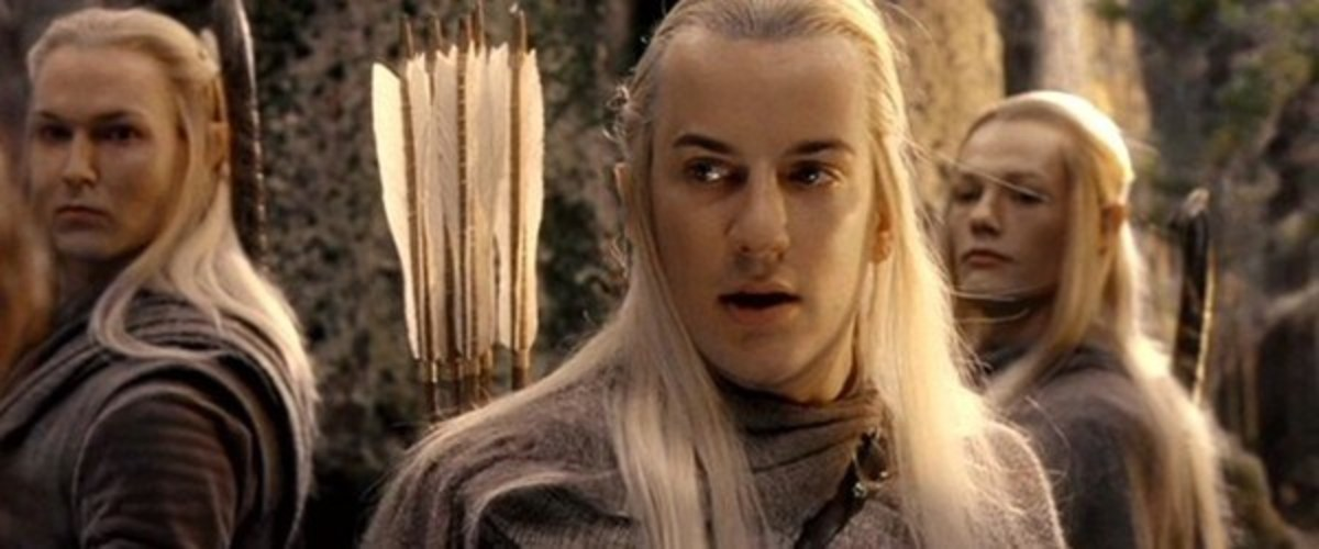 From New Line Cinema.  Though ruled by a Noldor and a Sindarin, the Elves of Lothlorien were actually one of the Silvan tribes that stayed east of the Blue Mountains.