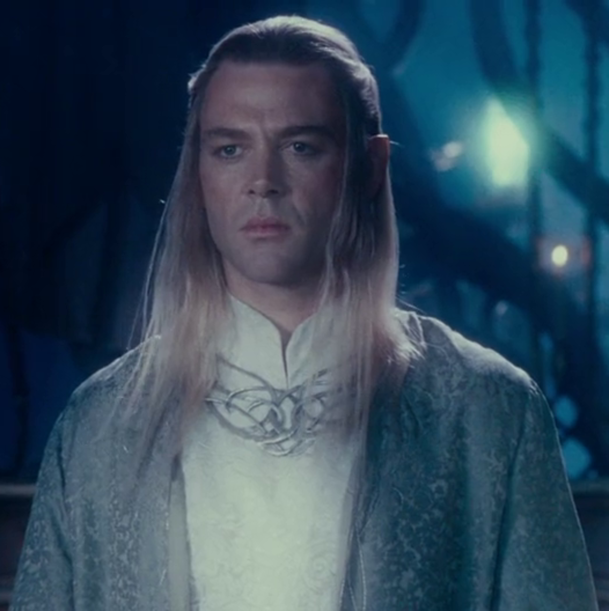 From New Line Cinema.  Along with Thranduil from Mirkwood, Celeborn was not one of the Silvan Elves but was Sindarin in origin, having come from Beleriand after the First Age.