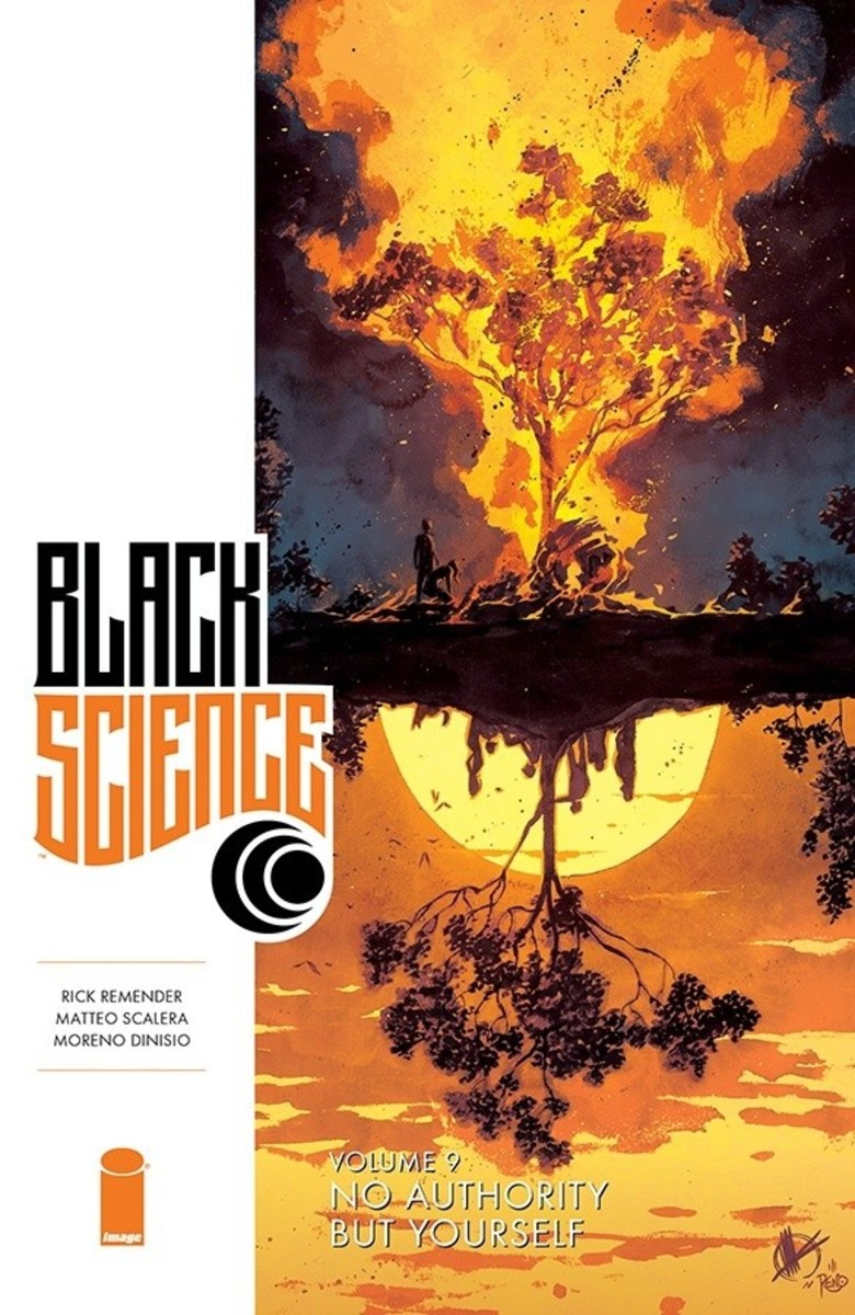 Cover of Black Science, vol. 9, art by Scalera.