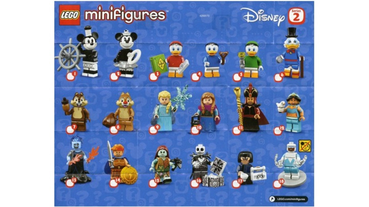 The LEGO Disney Minifigures Series 2