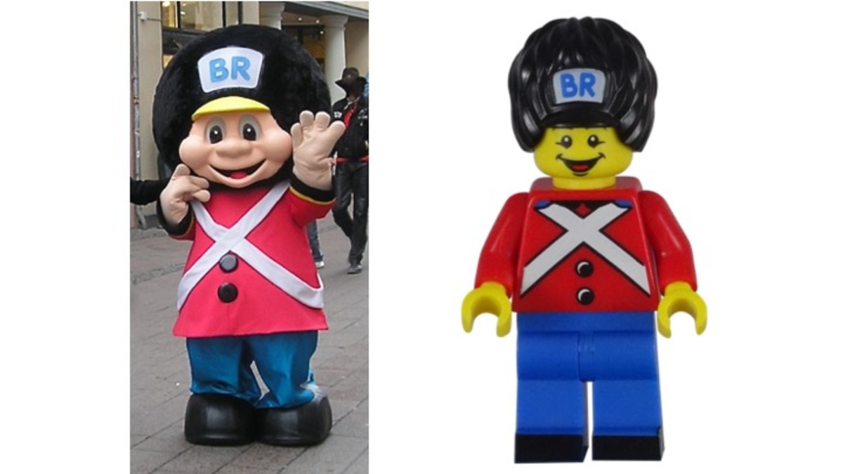 BR Toys Mascot Cousin and BR LEGO Minifigure