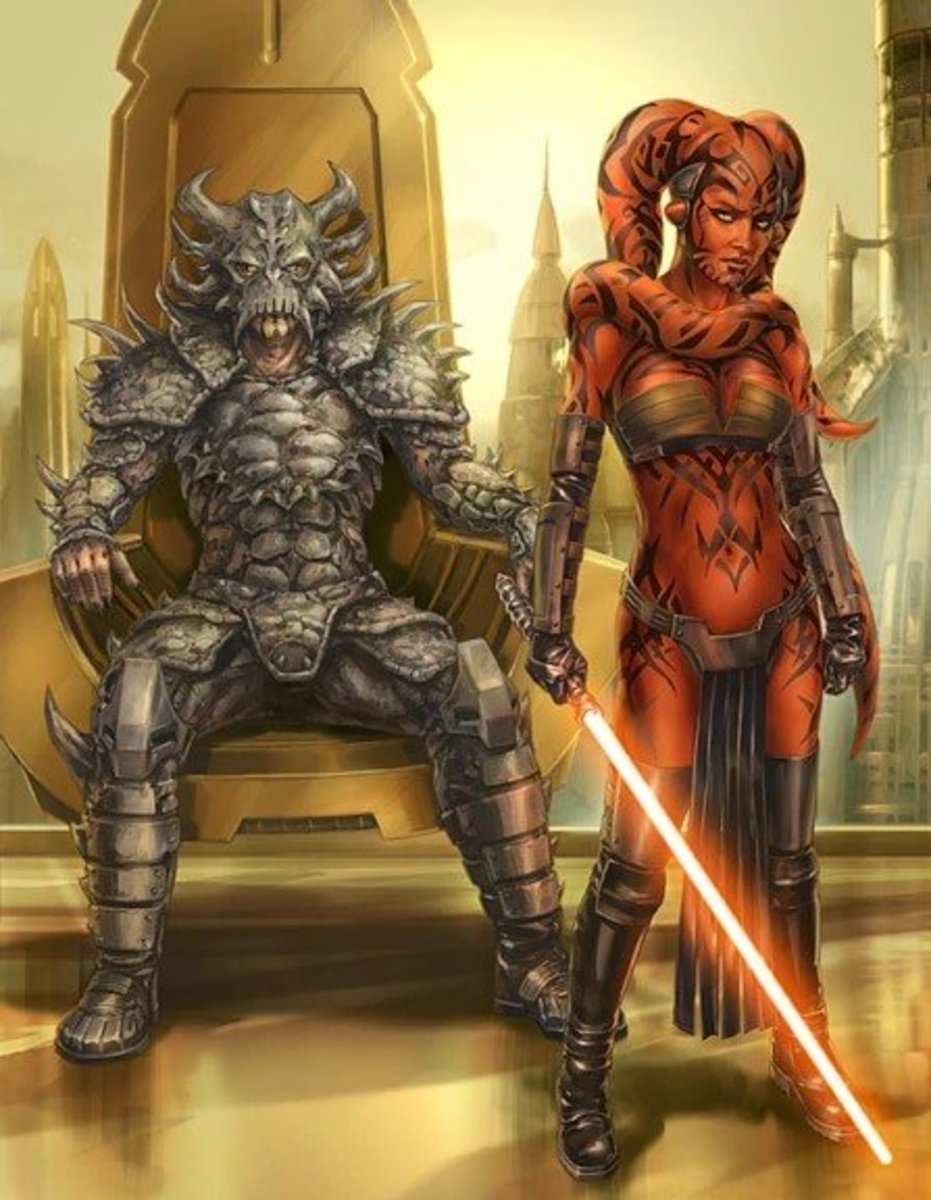 Darth Talon alongside Darth Krayt (left).