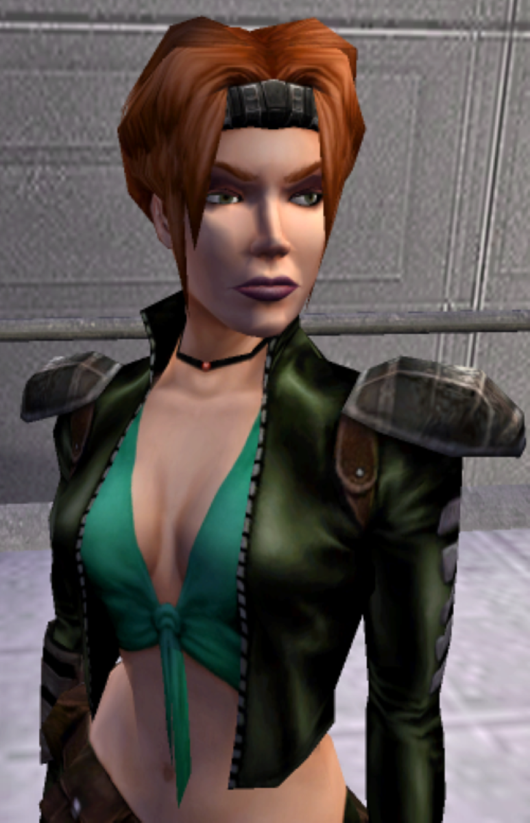 Mira in bounty hunter clothing.