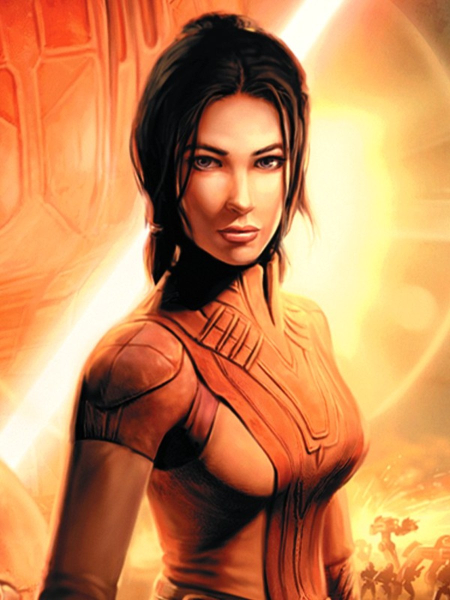 "The lovely Bastila Shan from ""Star Wars: Knights of the Old Republic."""