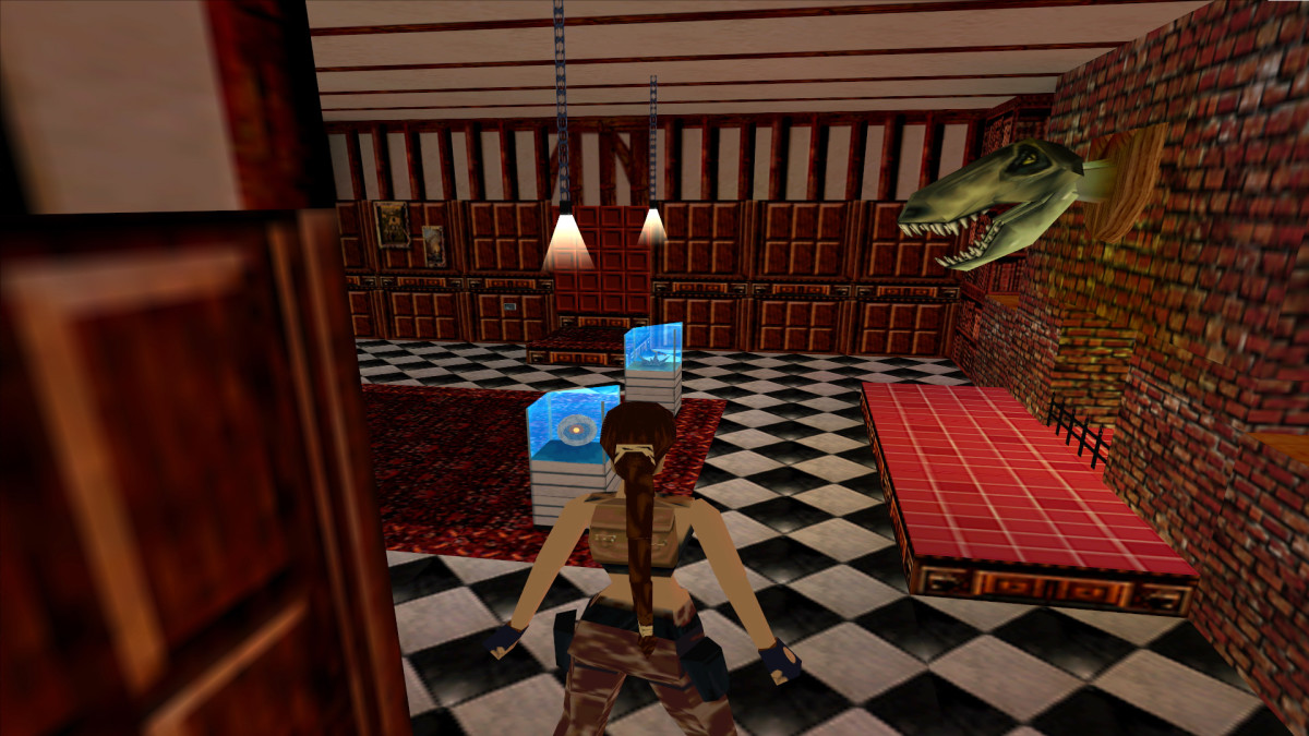 Part of Lara's treasure room in Tomb Raider III, uploaded by user Blackpill from the Tomb Raider wikia.