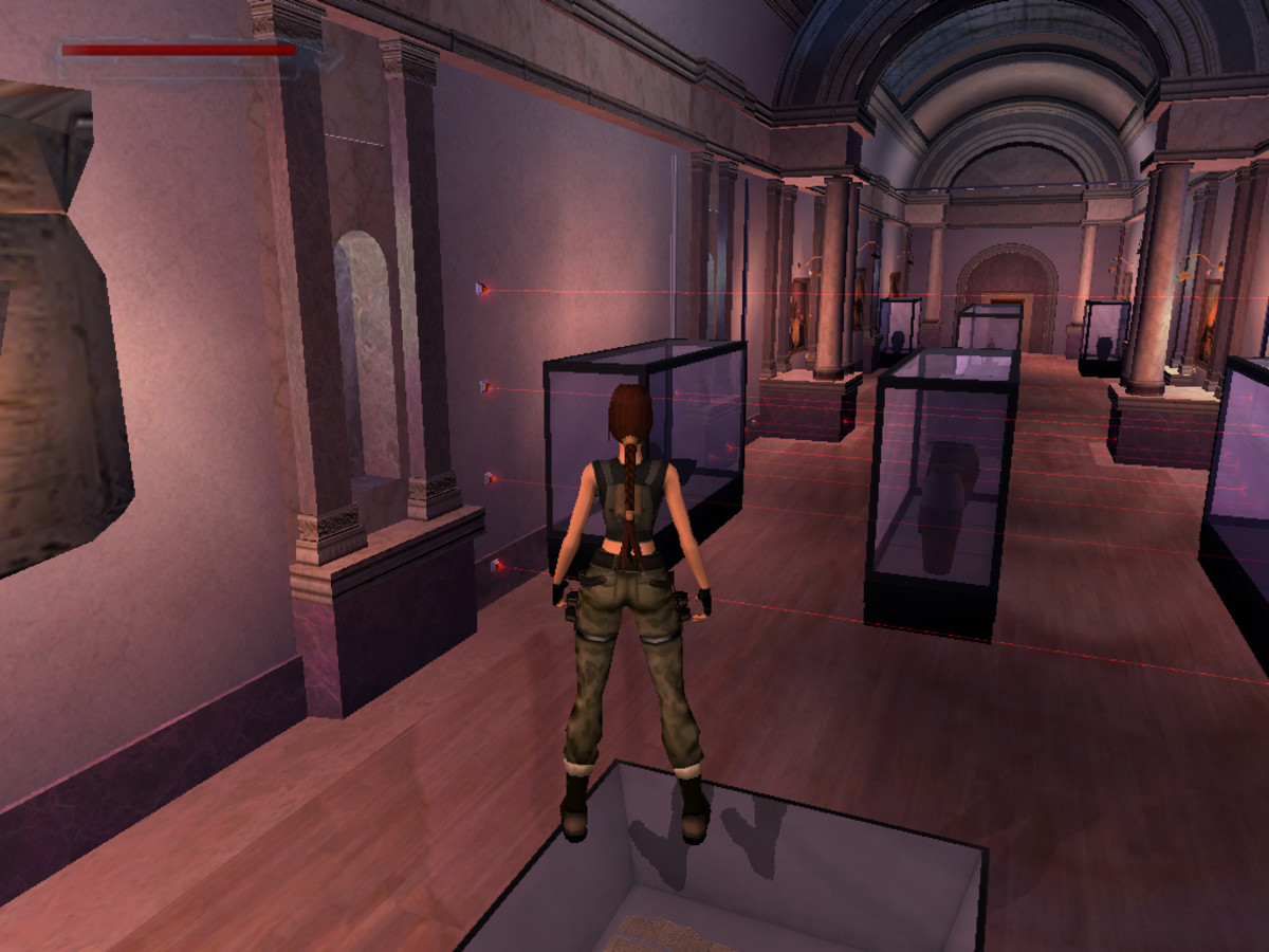A screenshot of Lara in the Louvre, originally posted by user: Animé Dan.