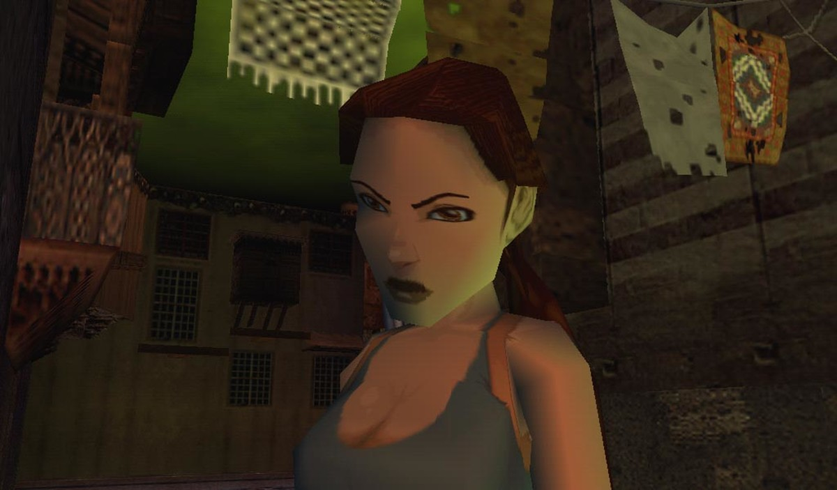 A screenshot of Lara in Tomb Raider: The Last Revelation, uploaded by user Wagnike2 on Tomb Raider wikia.