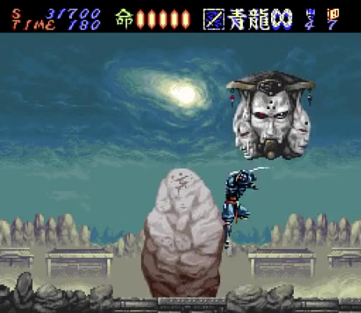 One of the more unique bosses of Hagane: The Final Conflict.