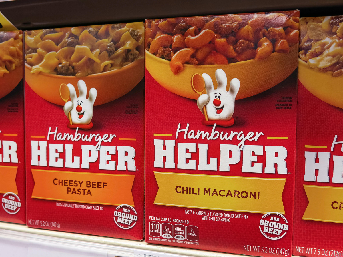 In 1970, Hamburger Helper appeared on grocery store shelves for the first time.