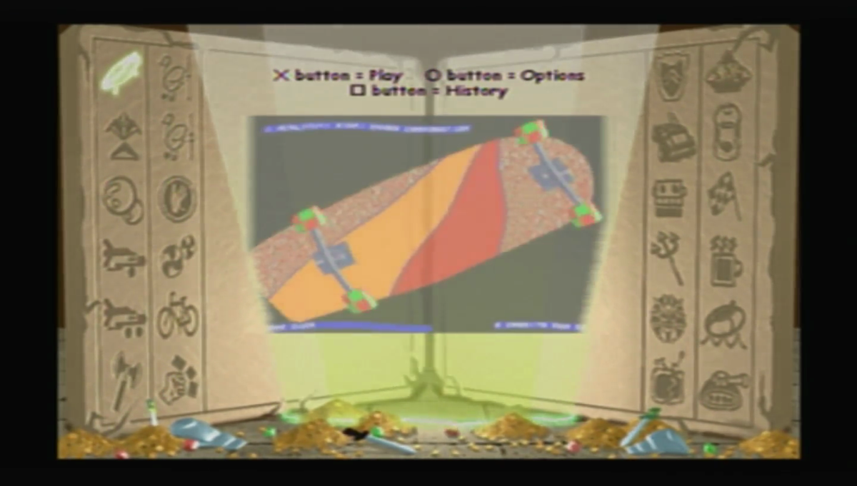 The interface of the first game for comparison.