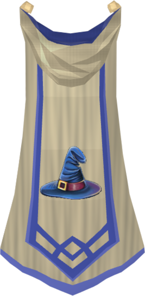 The Magic Master Cape, unlocked after reaching 120 Magic Level