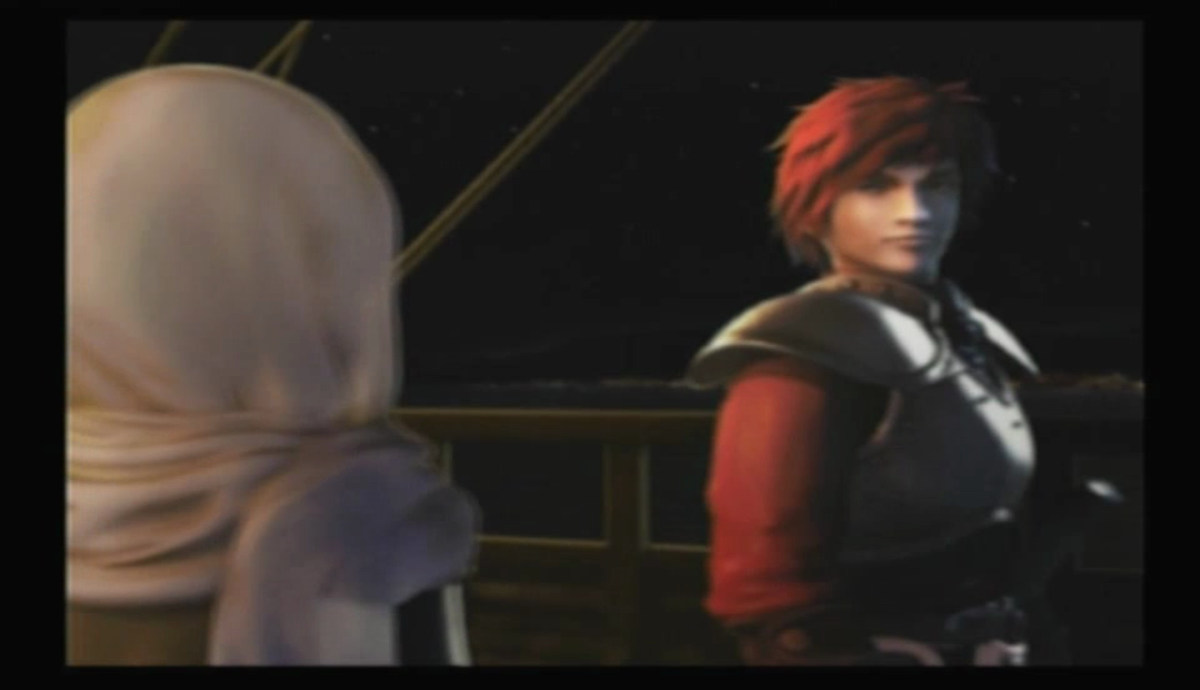 Ack! What's that?! Don't worry. It's just the PS2 port's awful CG.