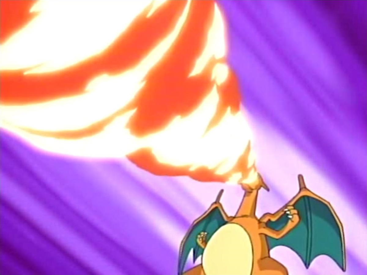 Charizard using Fire Spin