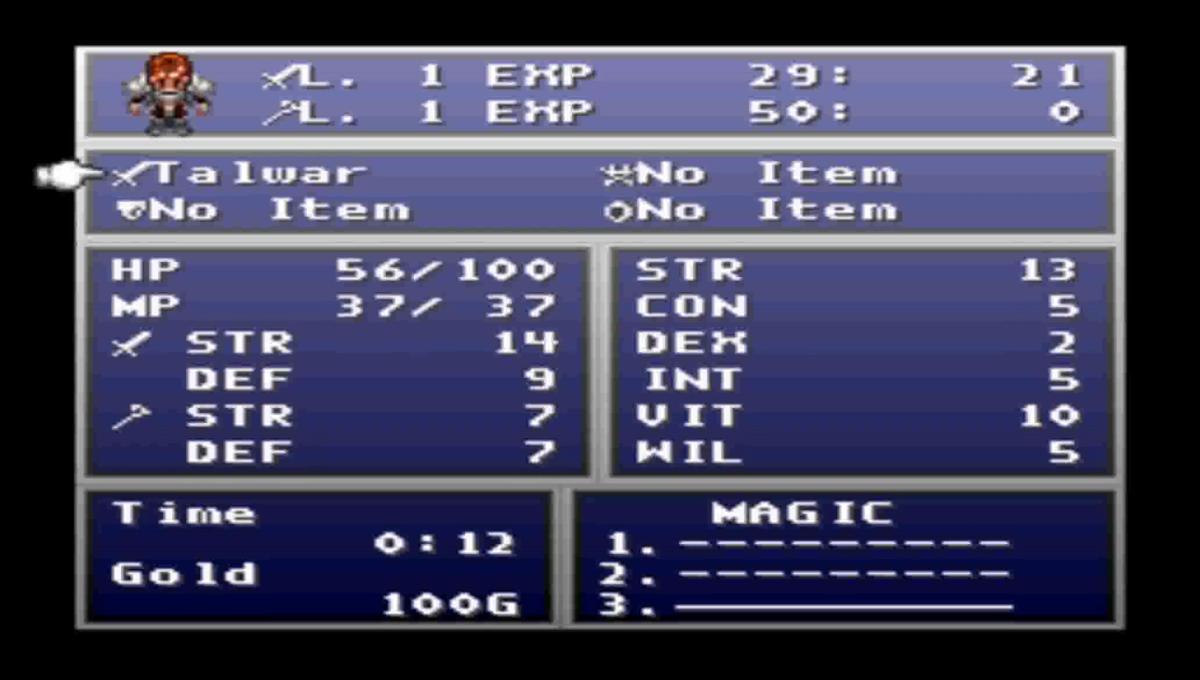 Ye olde generic RPG menu.
