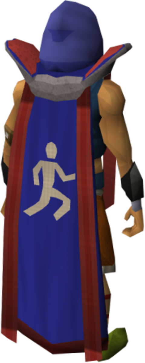 Trimmed Retro Agility Skillcape, obtained by achieving 99 in Agility and one other skill.