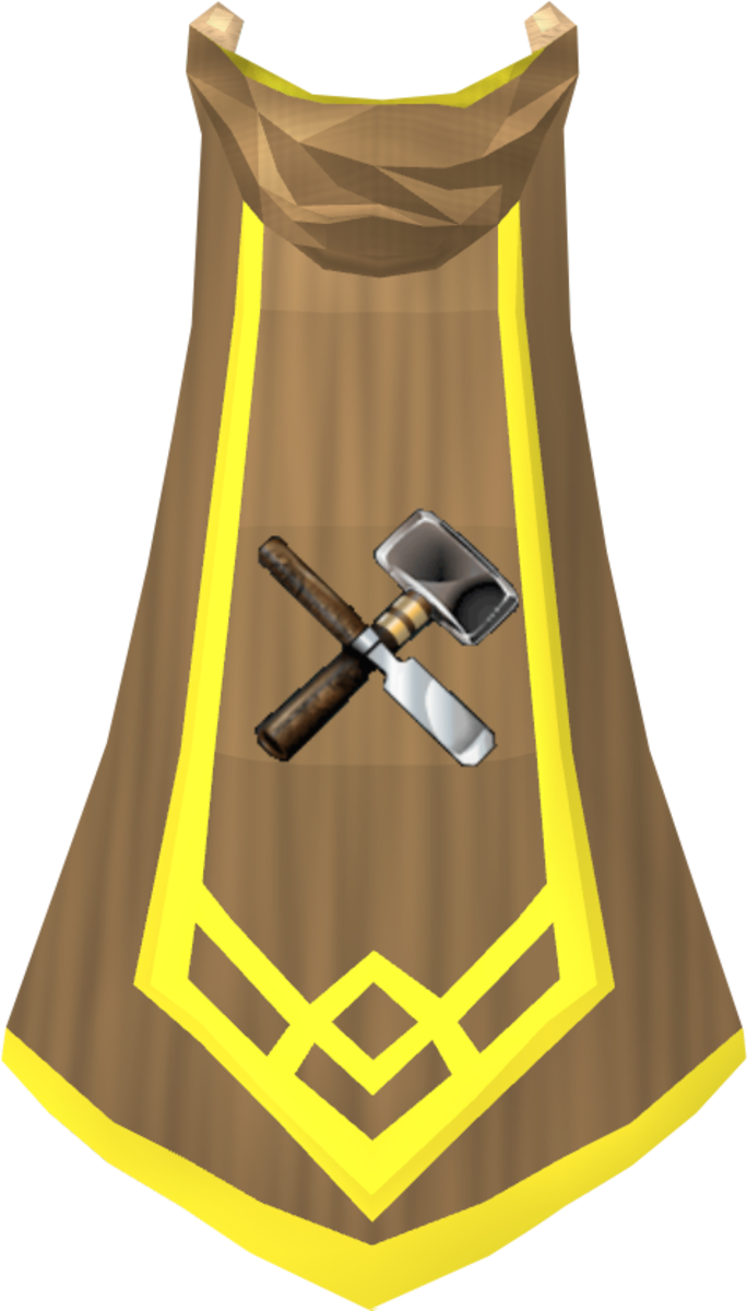 The Crafting Master Cape, obtained after virtual level 120 in Crafting