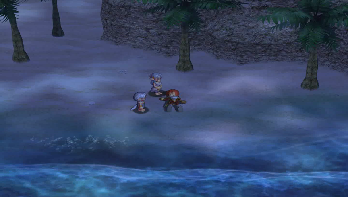 Adol getting shipwrecked and washing up on islands. Supposedly the story of his life.