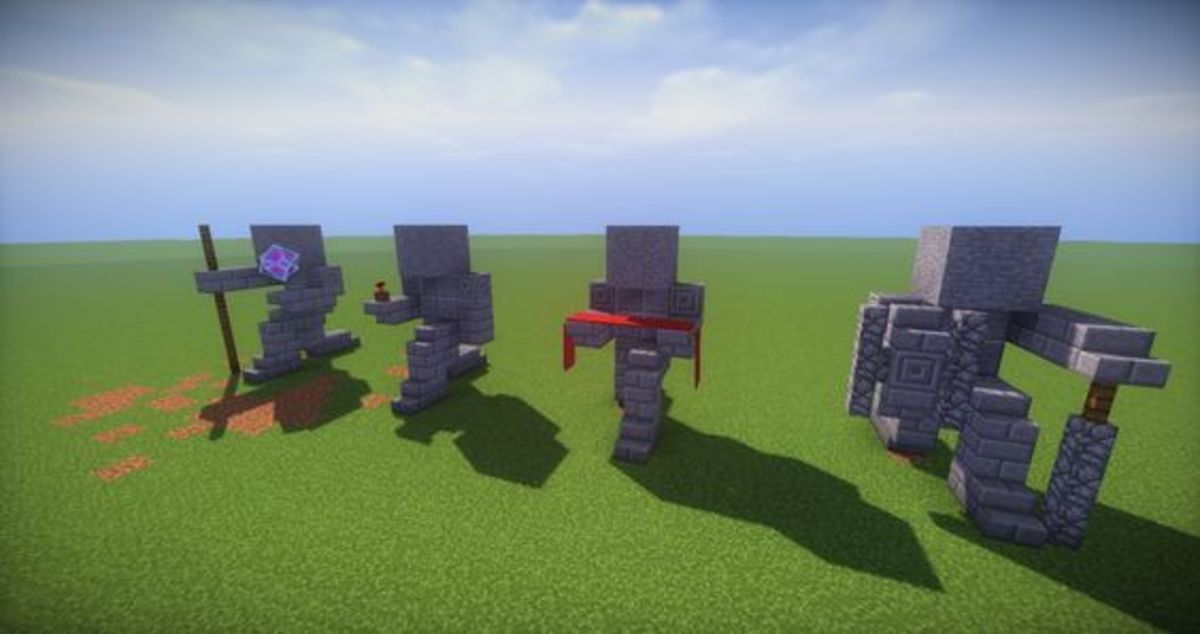 Simple Stone Guardian Statues