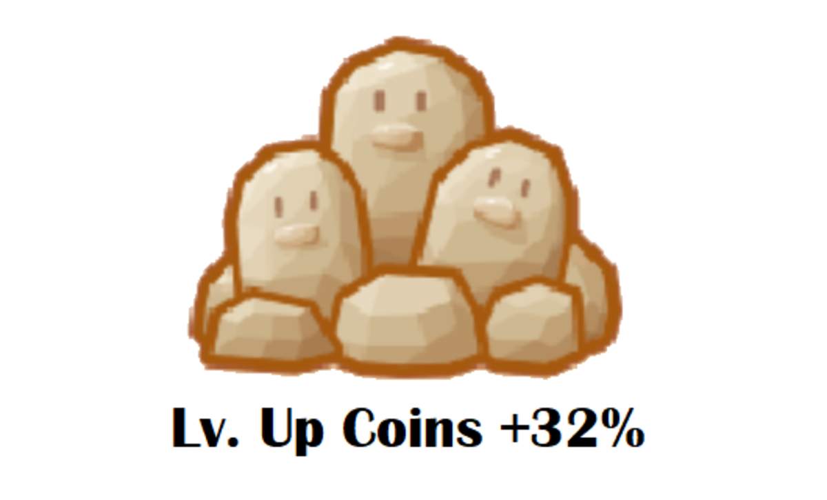 Get more level-up coins with the Dugtrio Rock.