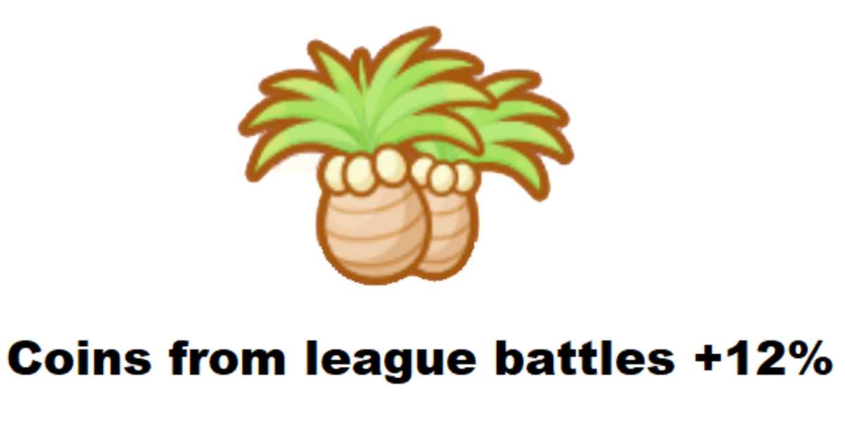The Exeggutor Palm offers you some lovely plantlife.
