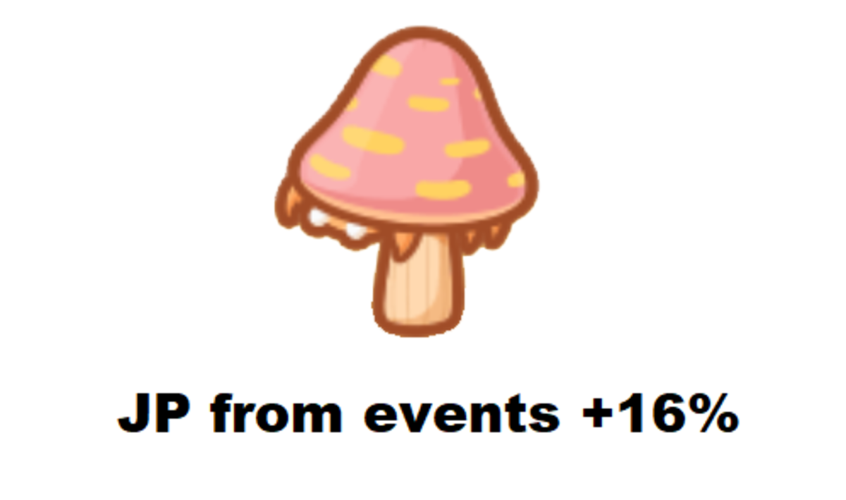 This little mushroom helps you gain JP.