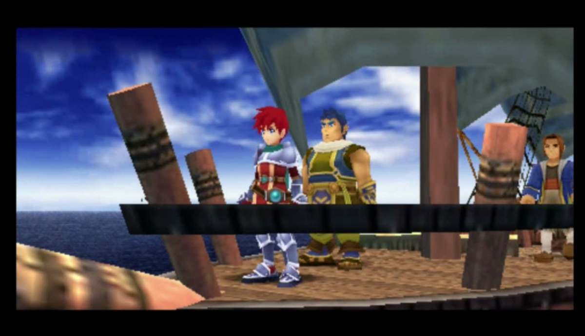 Adol on the seas.
