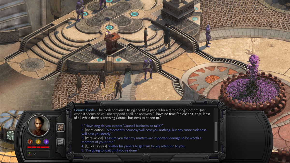 Torment: Tides of Numenera Dialogue Options