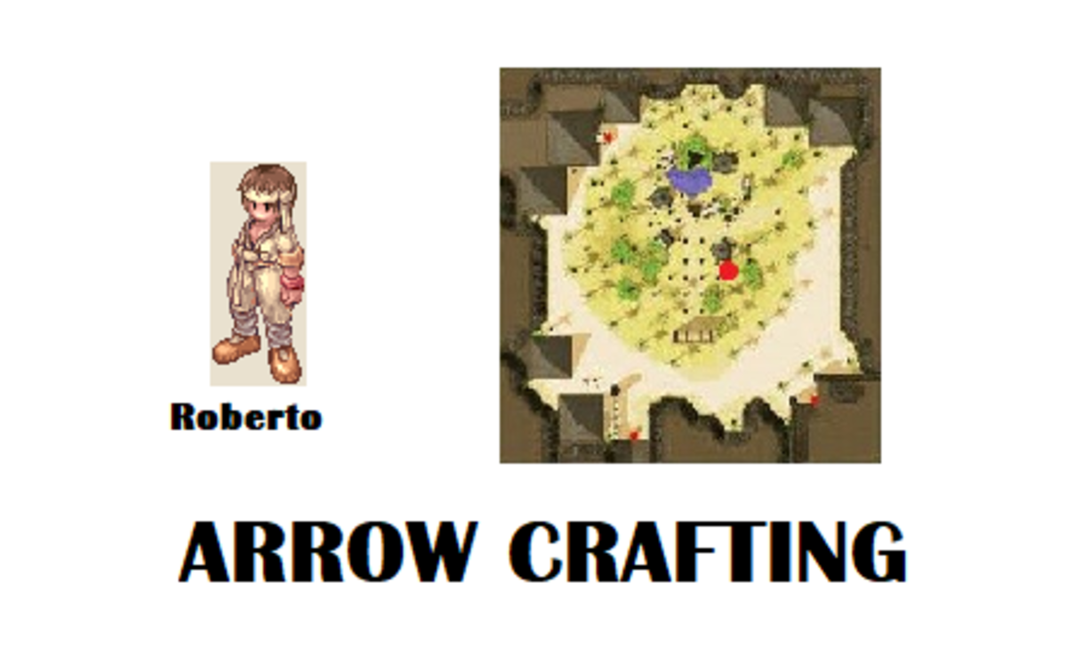 Roberto will help you start your quest to learn Arrow Crafting.