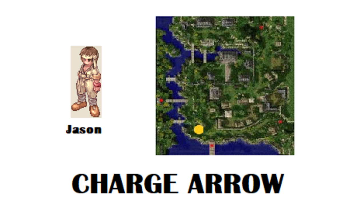 To learn the Charge Arrow skill, start by speaking with Jason.