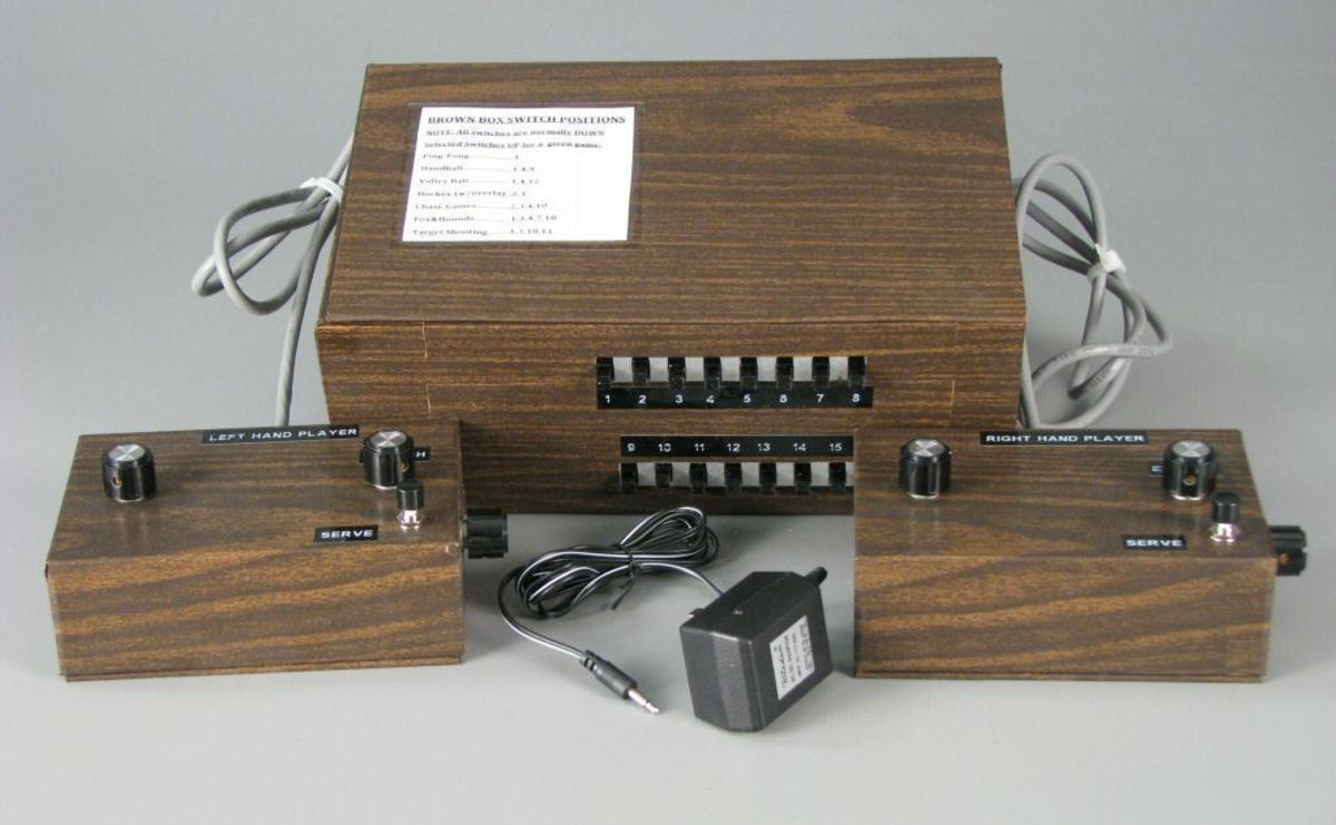 "Replica of Ralph H. Baer's ""Brown Box"" Video Gaming Console, it was the first ever video gaming console system ever produced."