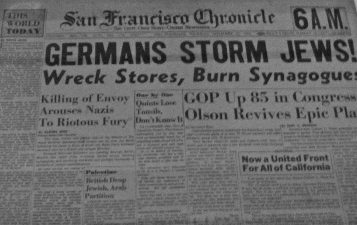 SF Chronicle coverage of Kristallnacht