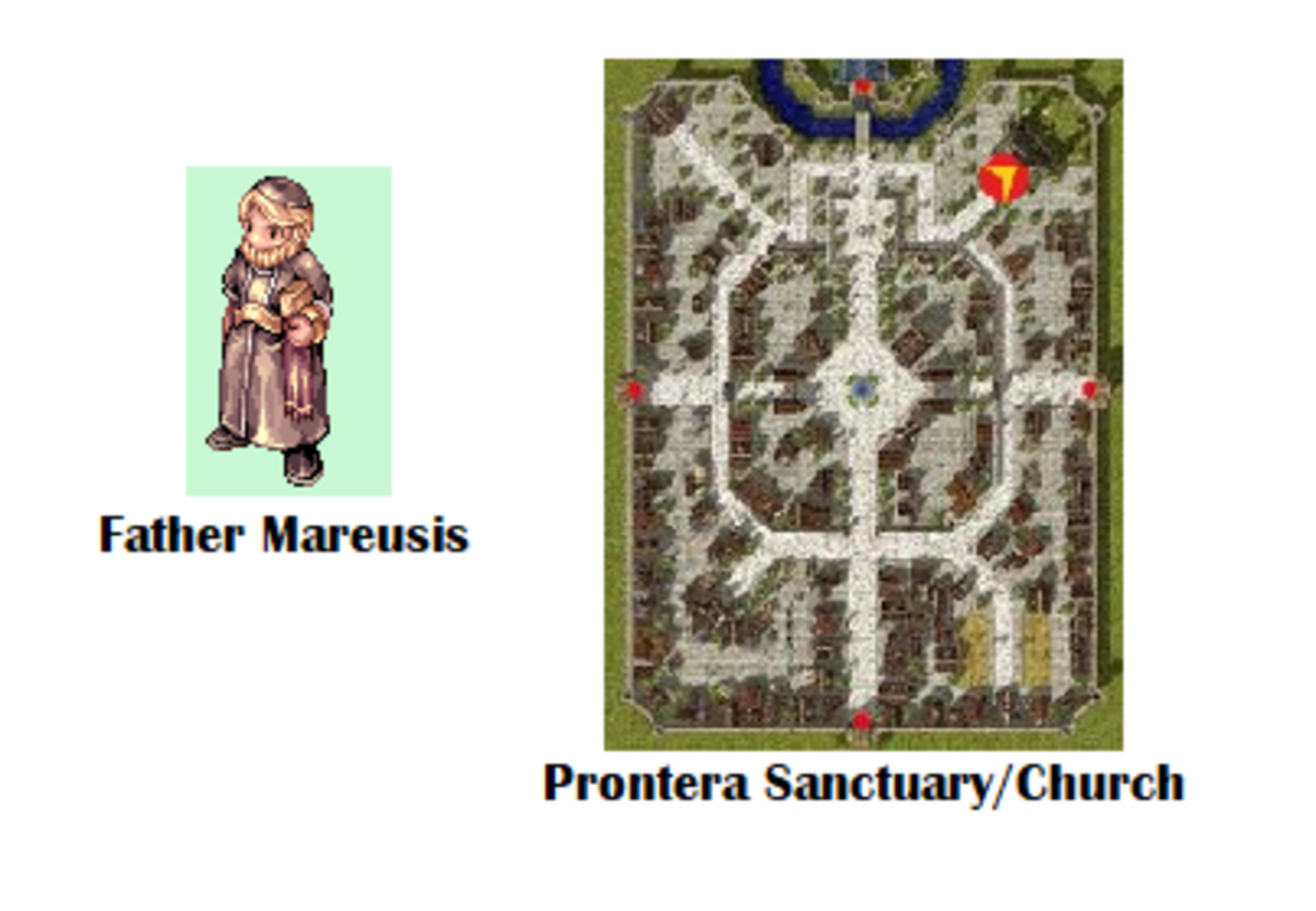 Your quest begins with Father Mareusis.