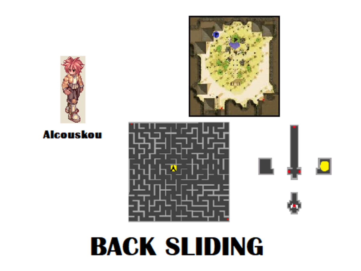 Go talk to Alcouskou again to start your Back Sliding quest.