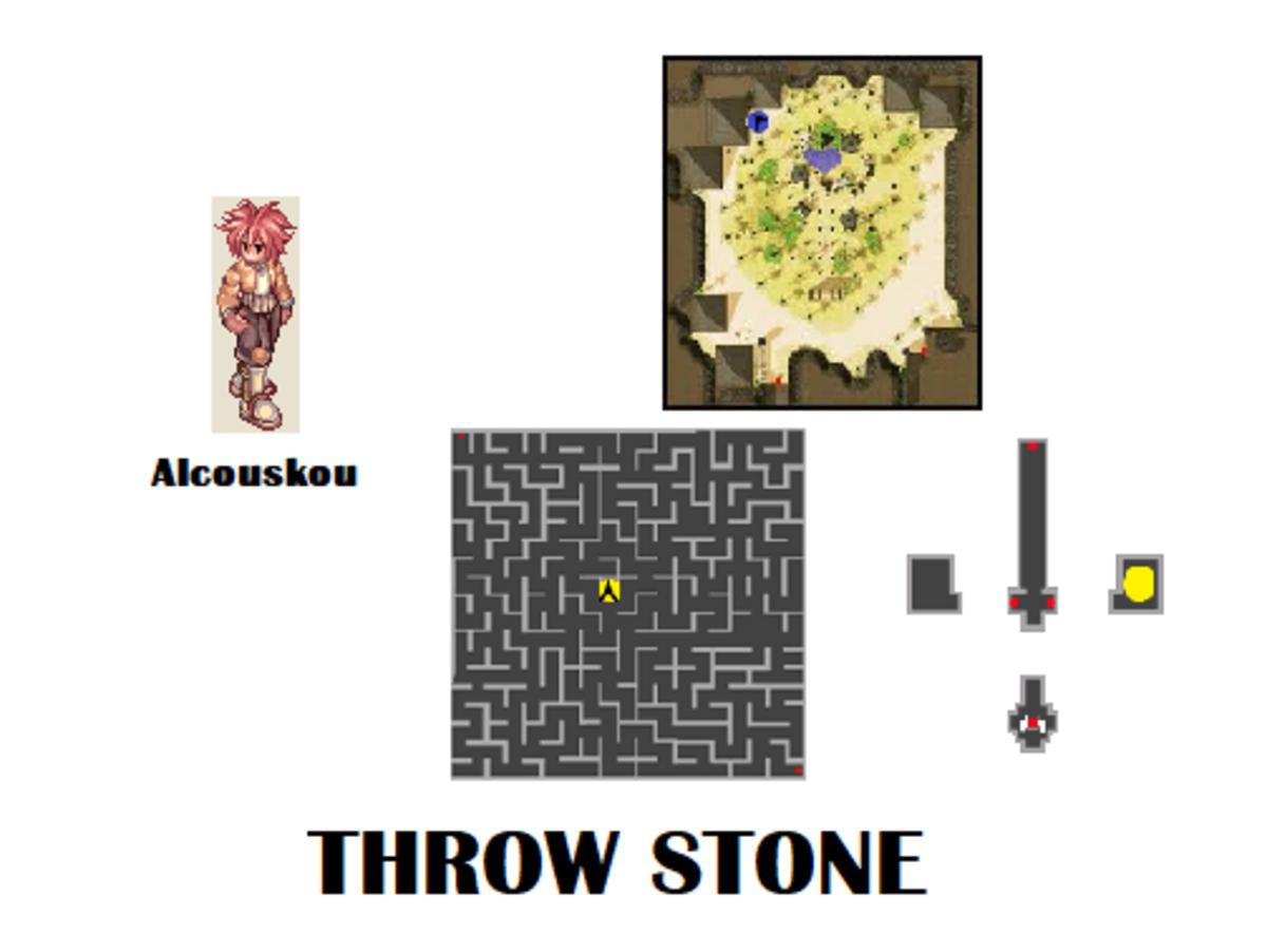 To start the Throw Stone quest, talk to Alcouskou.