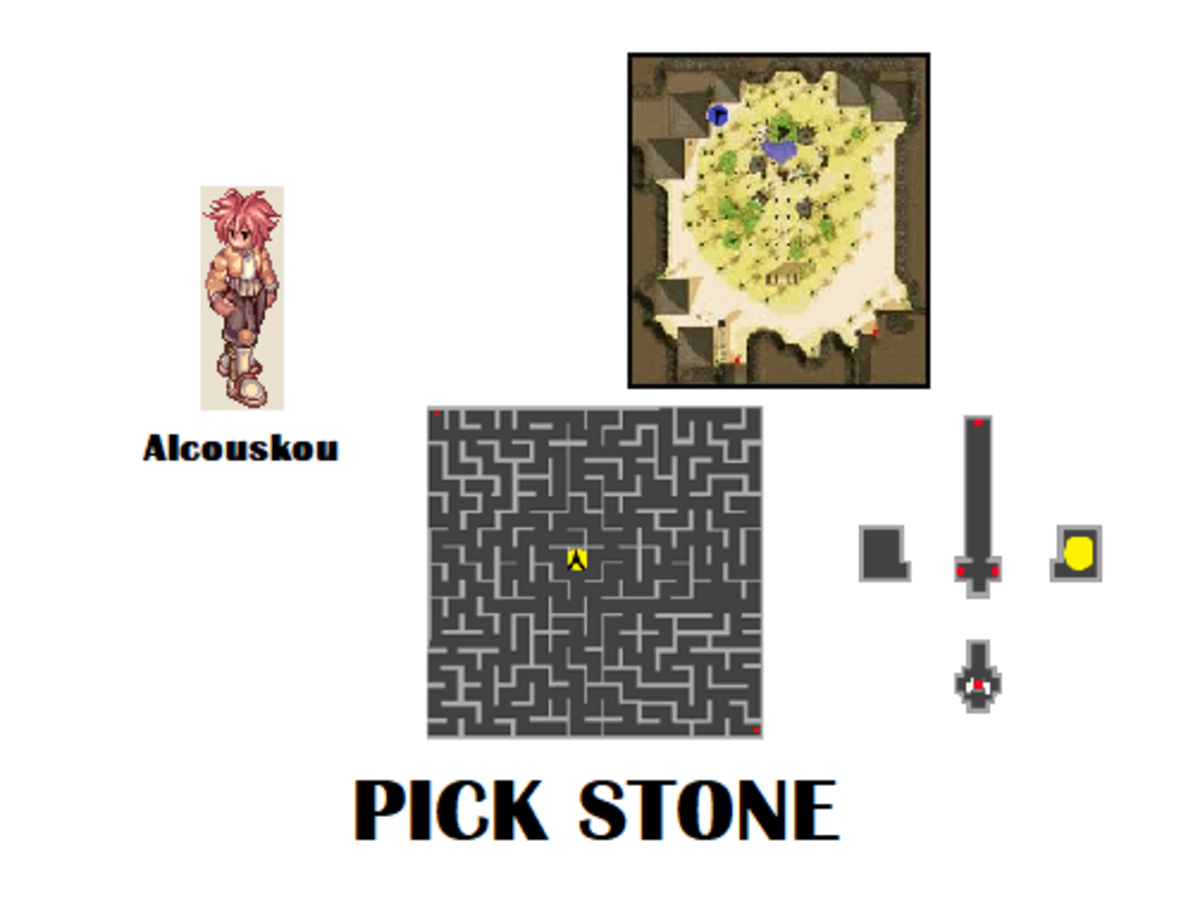 Alcouskou is also your contact for the Pick Stone skill.