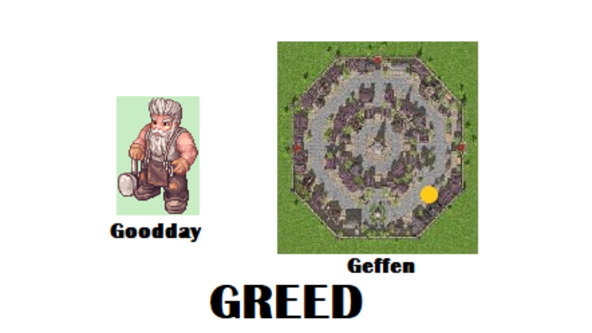 Time to get Greedy! Start your quest by talking to Goodday.