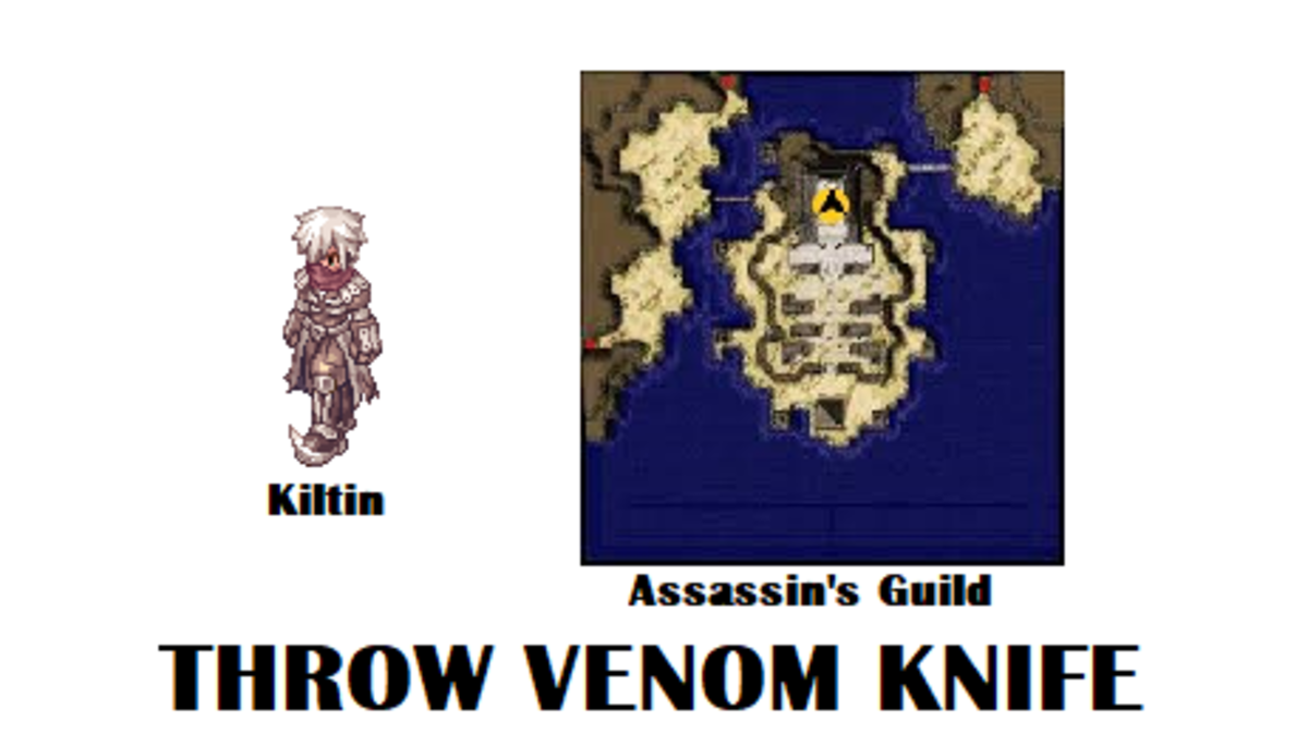 Speak with Kiltin to embark on the quest for Throw Venom Knife.