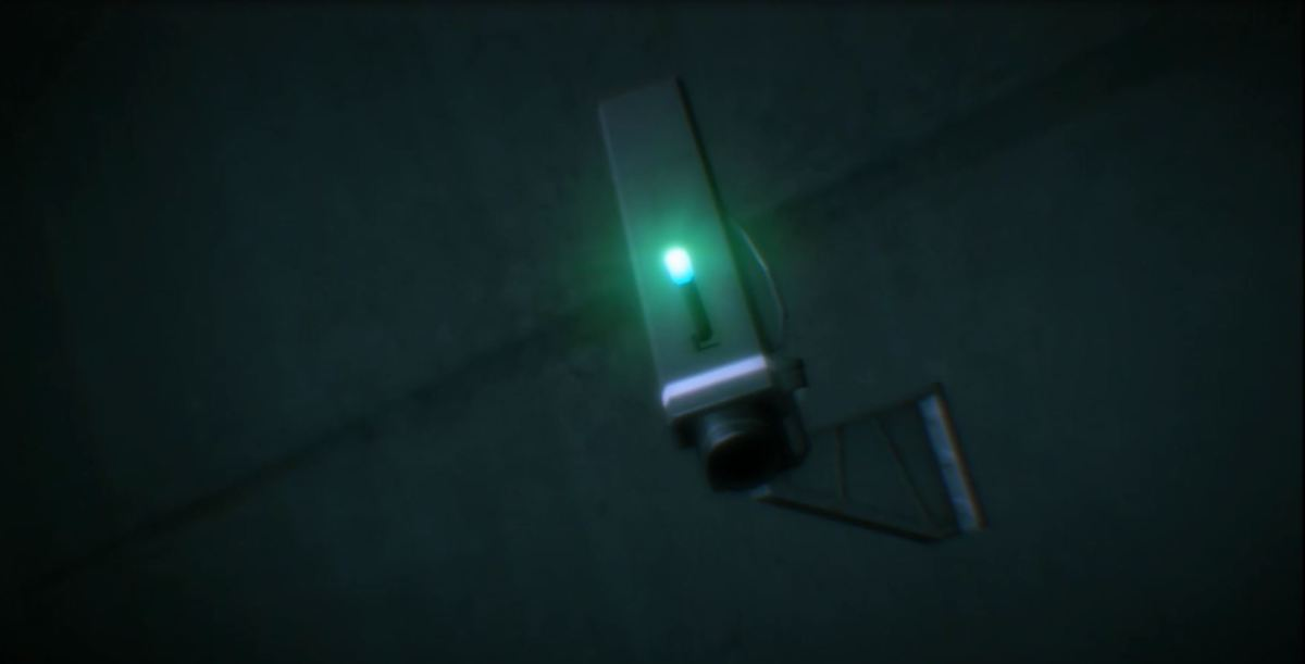 A surveillance camera?! Image copyright of Konami.