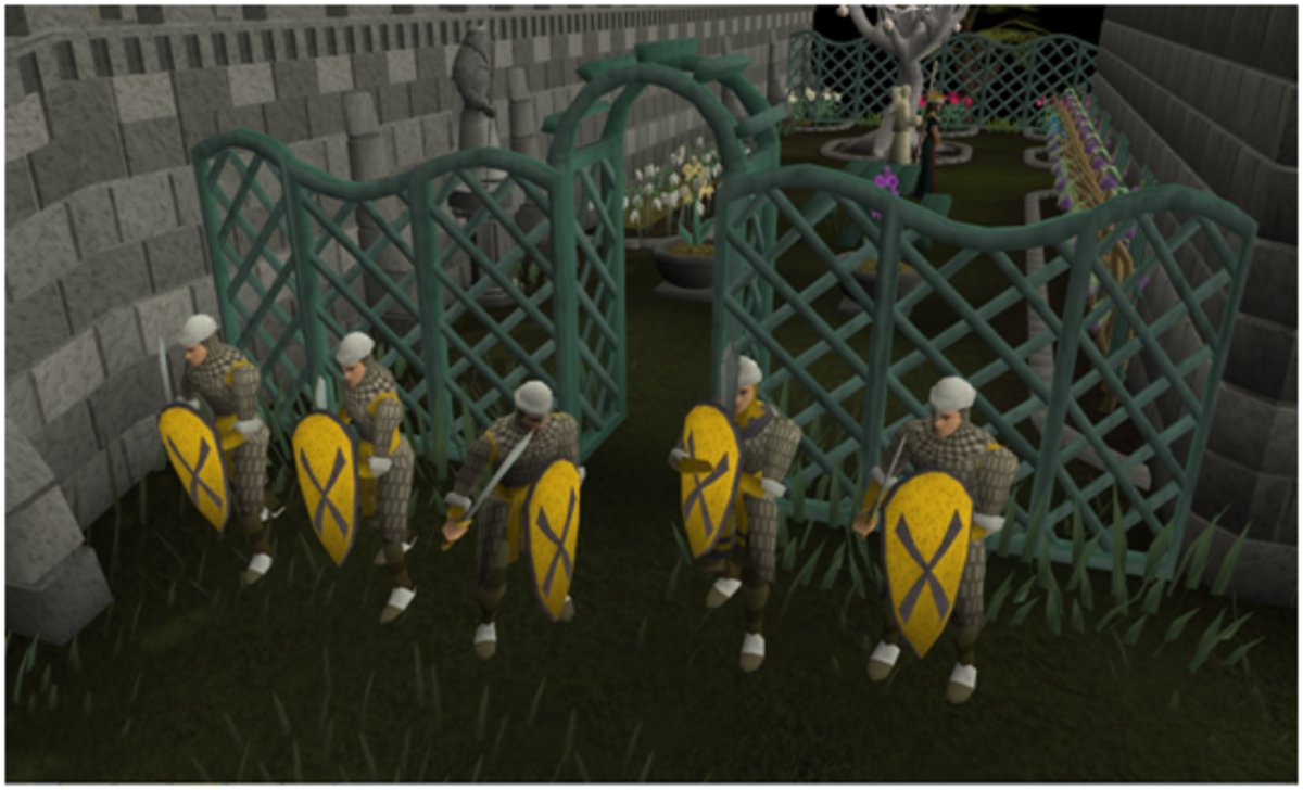 Kill these guards and take their grapes. It may not be pretty, but it's profitable.