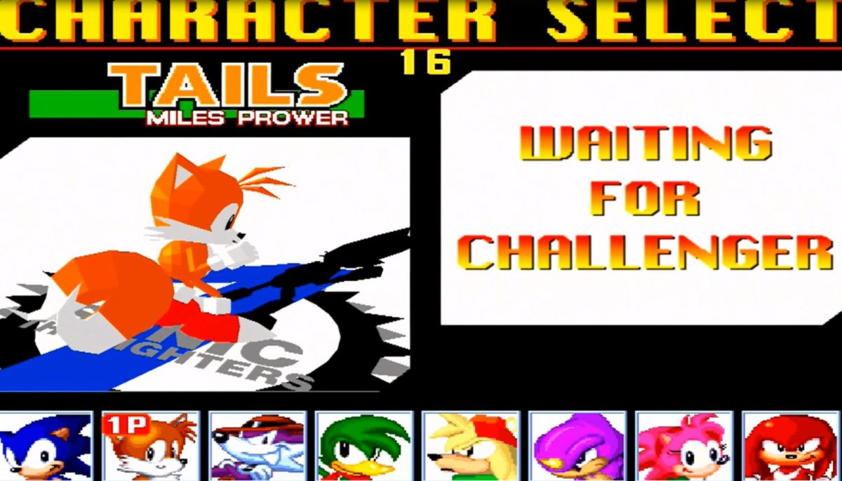 The character selection screen. Image copyright of Sega.