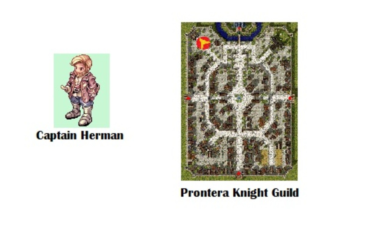 Finally, it's time to become a Knight! Go back to Captain Herman.