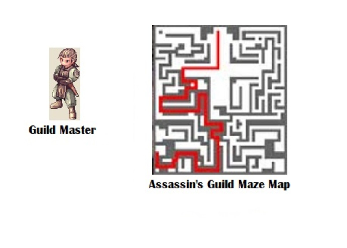 You'll find the Guild Master at the end of the maze.