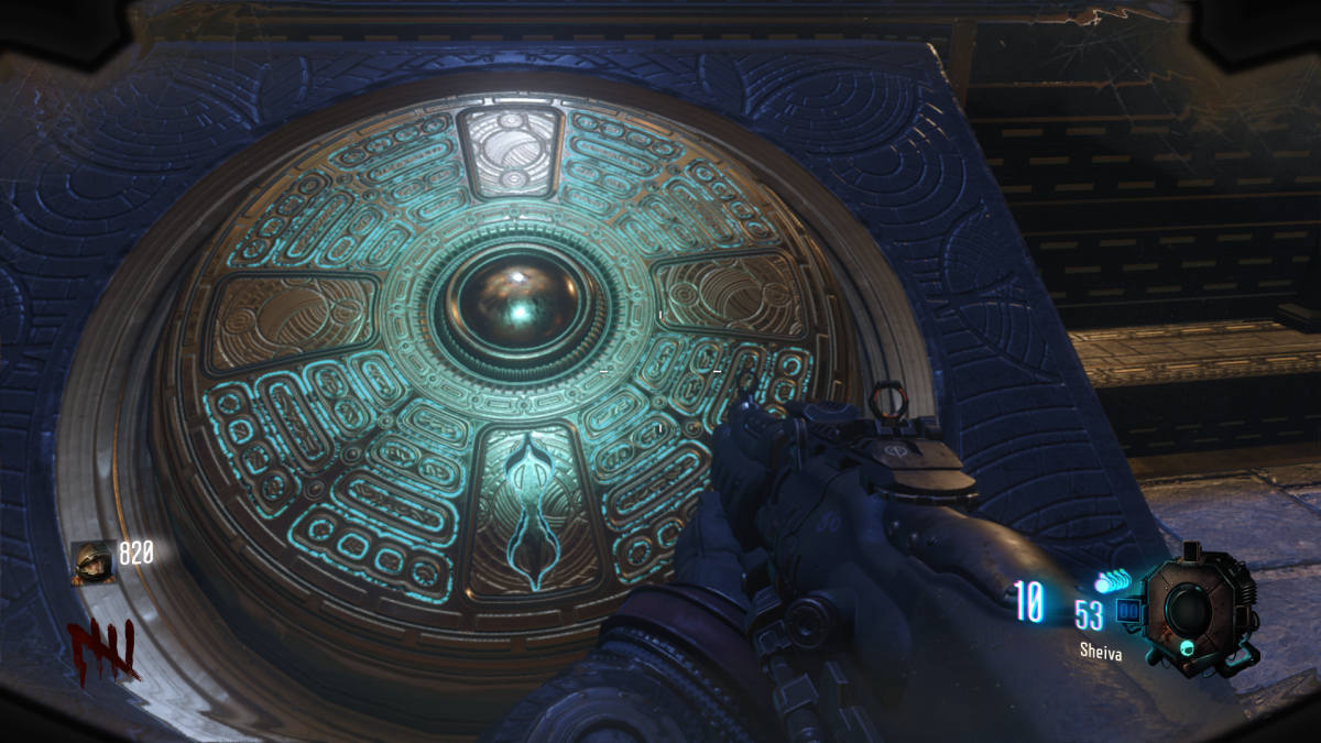 The Focusing Stone will settle in the middle of this glyph on the base of the M.P.D.