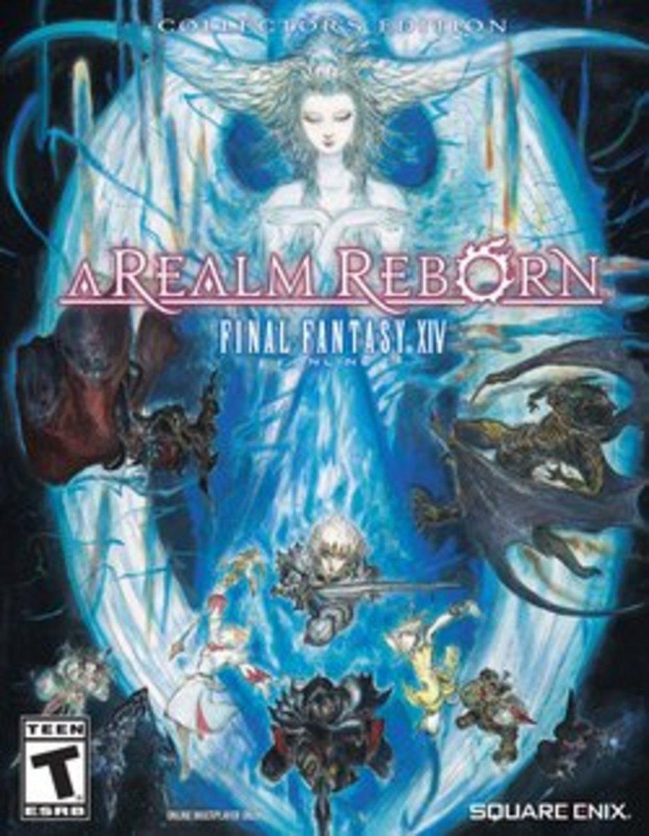 "Box art for ""Final Fantasy XIV: A Realm Reborn."""