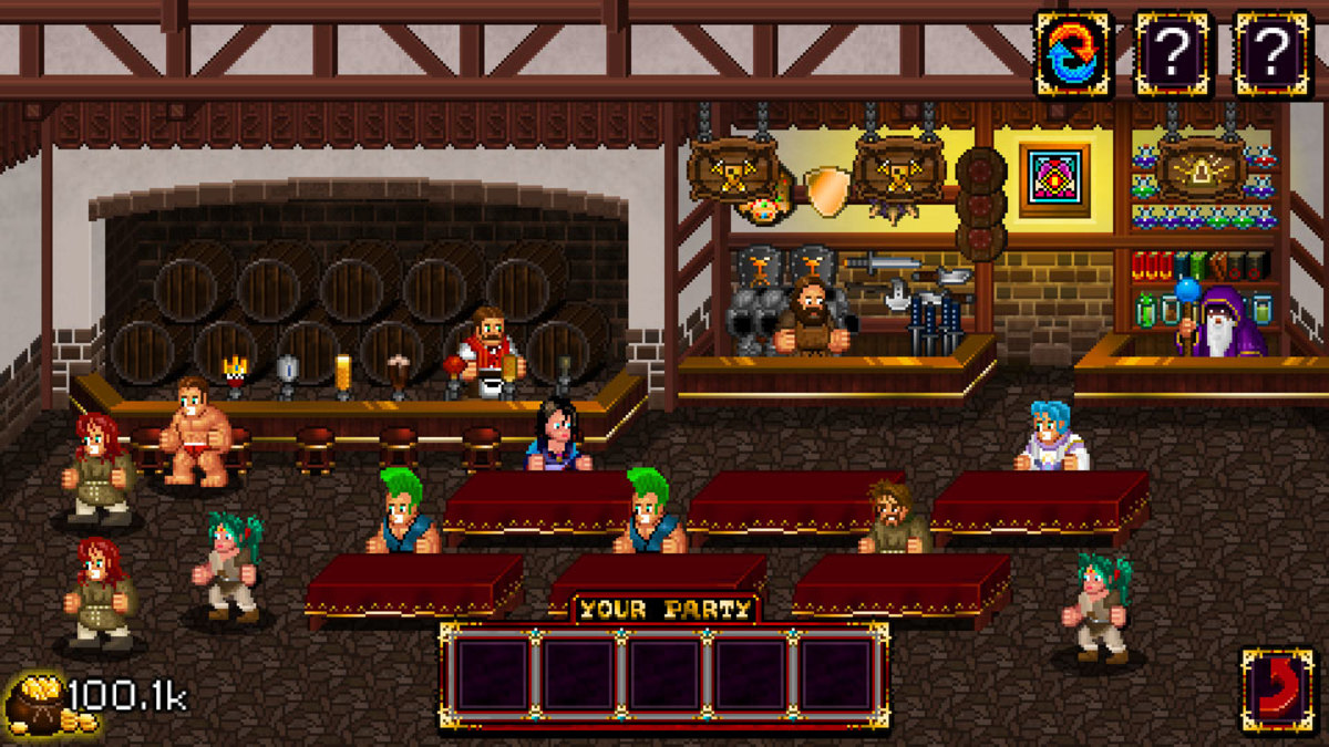 "The tavern in ""Soda Dungeon."""