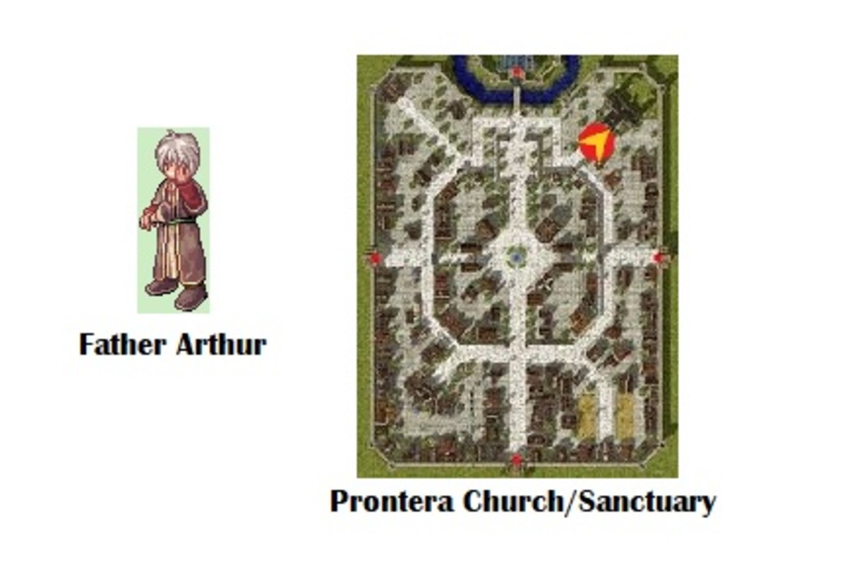 You'll need to collect some items for Father Arthur.