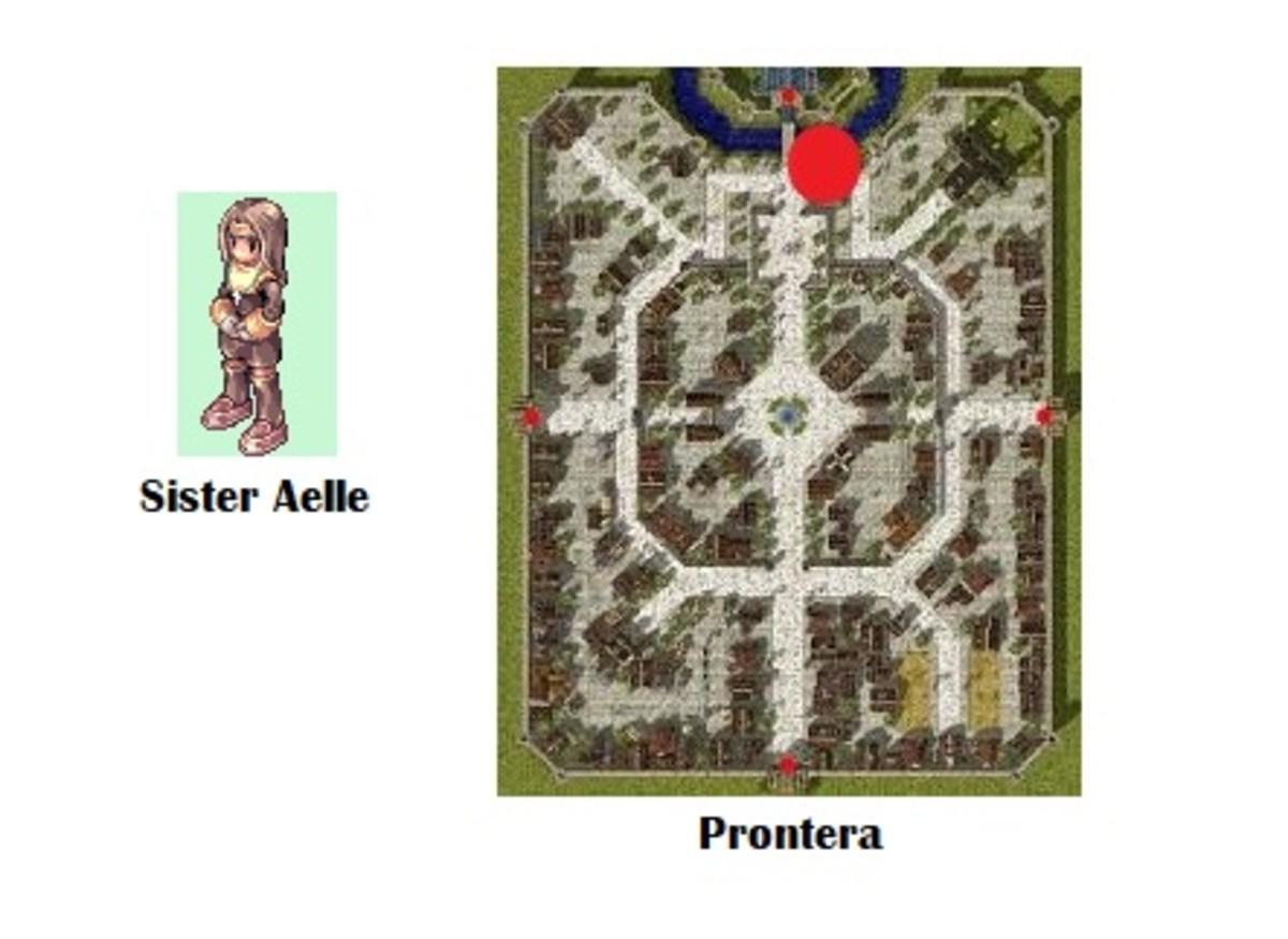 Talk to Sister Aelle near the Prontera Castle bridge.